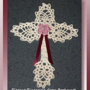 Elegant Pineapple Cross Bookmark
