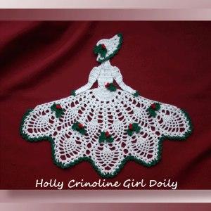 Holly Crinoline Girl Doily