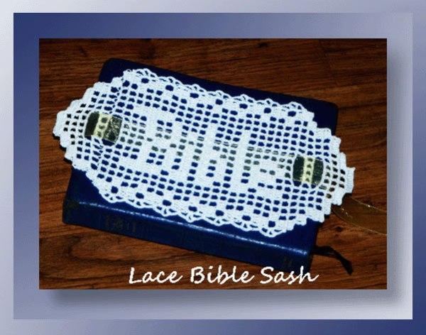 Lace Bible Sash 325 Crochet Memories
