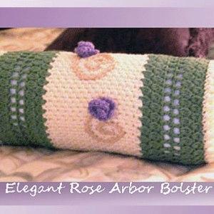 Elegant Rose Arbor Bolster