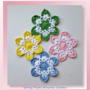 Spring Pastel Blossoms Coasters