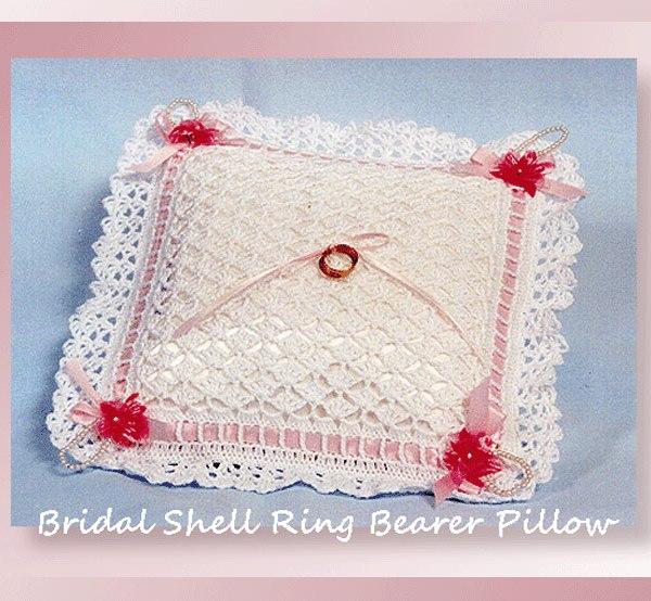 Bridal Shell Ring Bearer Pillow