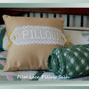 Filet Lace Pillow Sash