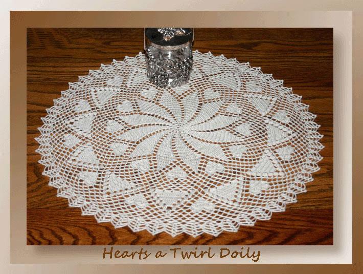 Hearts A Twirl Doily Crochet Doily Patterns Crochet