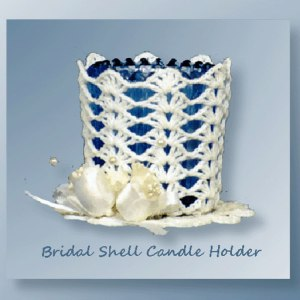 Bridal Shell Candle Holder