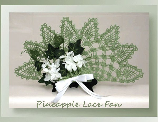 Pineapple Lace Fan