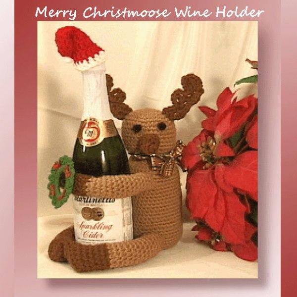 Merry Christmoose Wine Holder