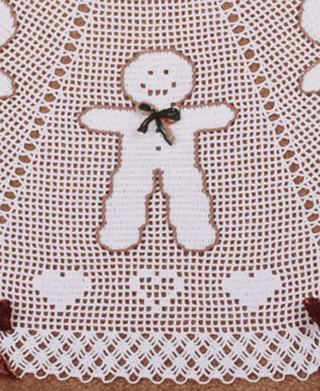 Country Gingerbread Tree Skirt (close up)