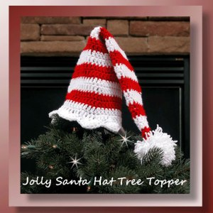 Jolly Santa Hat Tree Topper