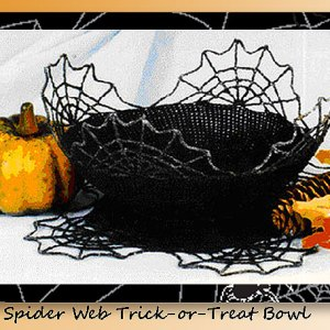Spider Web Trick-or-Treat Bowl