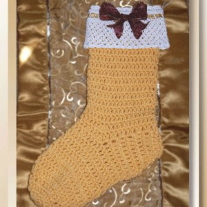 Country Calico Christmas Stocking