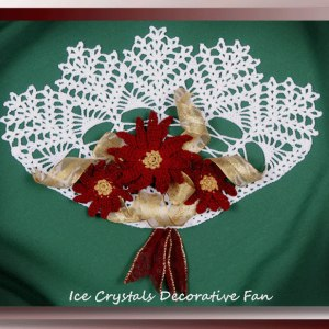 Ice Crystals Decorative Fan