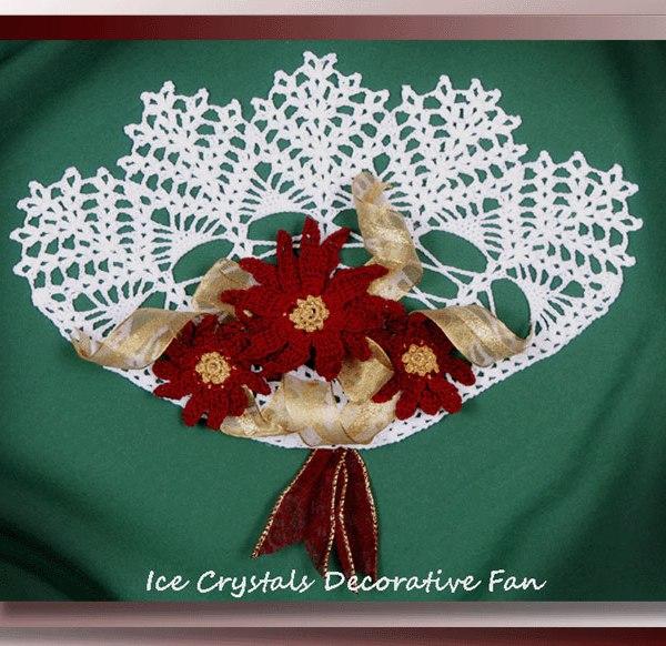 Ice Crystals Decorative Fan