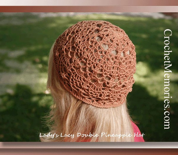 Lady's Lacy Double Pineapple Hat