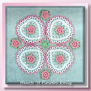 Hearts 'N Flowers Doily