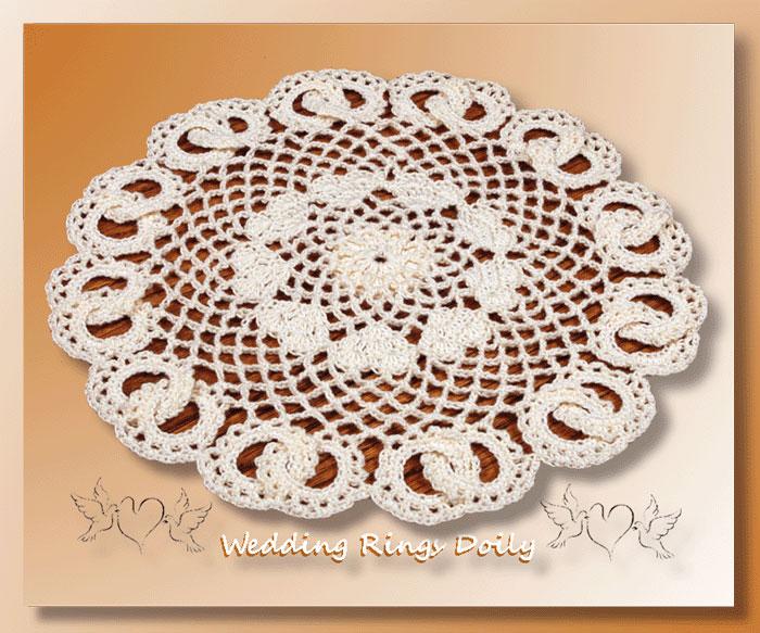 Wedding Rings Doily Crochet Doily Patterns Crochet Wedding Patterns