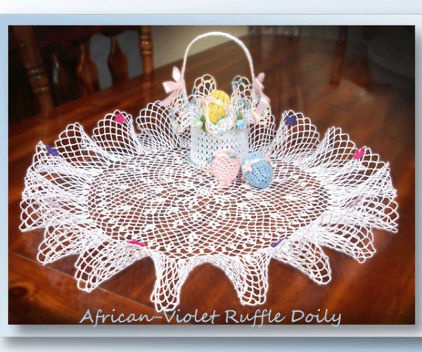 African-Violet Ruffle Doily    <br /><br /><font color=