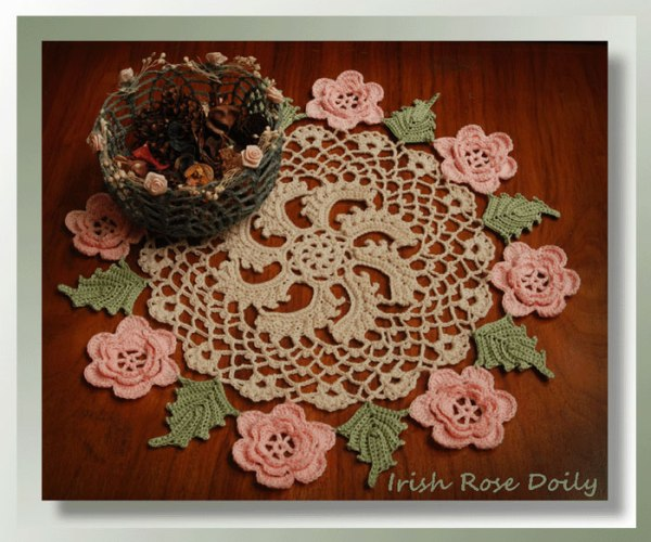 Irish Rose Doily    <br /><br /><font color=