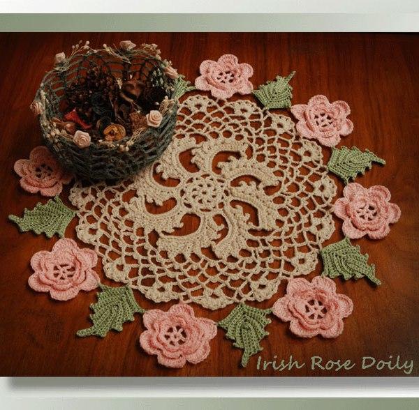 Irish Rose Doily Crochet Vintage Doily Patterns