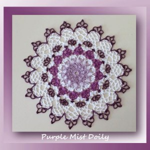 Purple Mist Doily