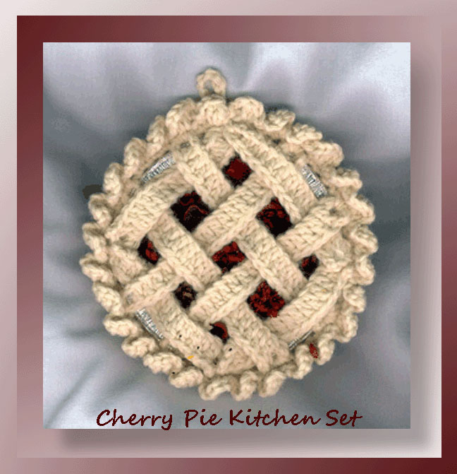 Cherry Pie Kitchen Set 495 Crochet Memories