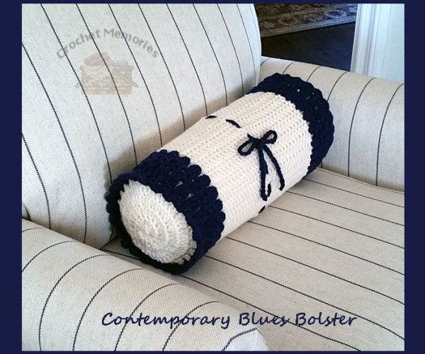 Contemporary Blues Bolster    <br /><br /><font color=