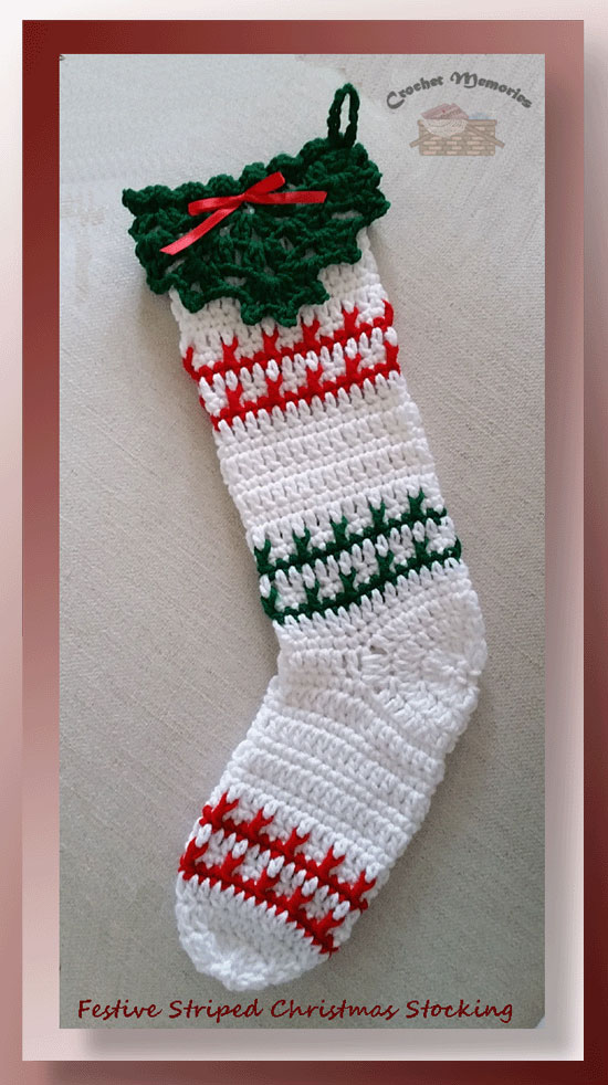 festive striped christmas stocking - Striped Christmas Stockings