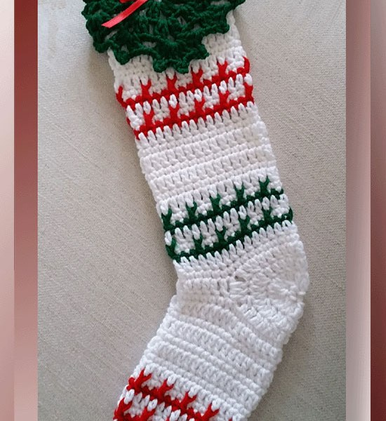 Festive Striped Christmas Stocking