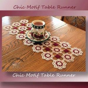 Chic Motif Table Runner - crochet pattern for a motif style table runner - CrochetMemories.com