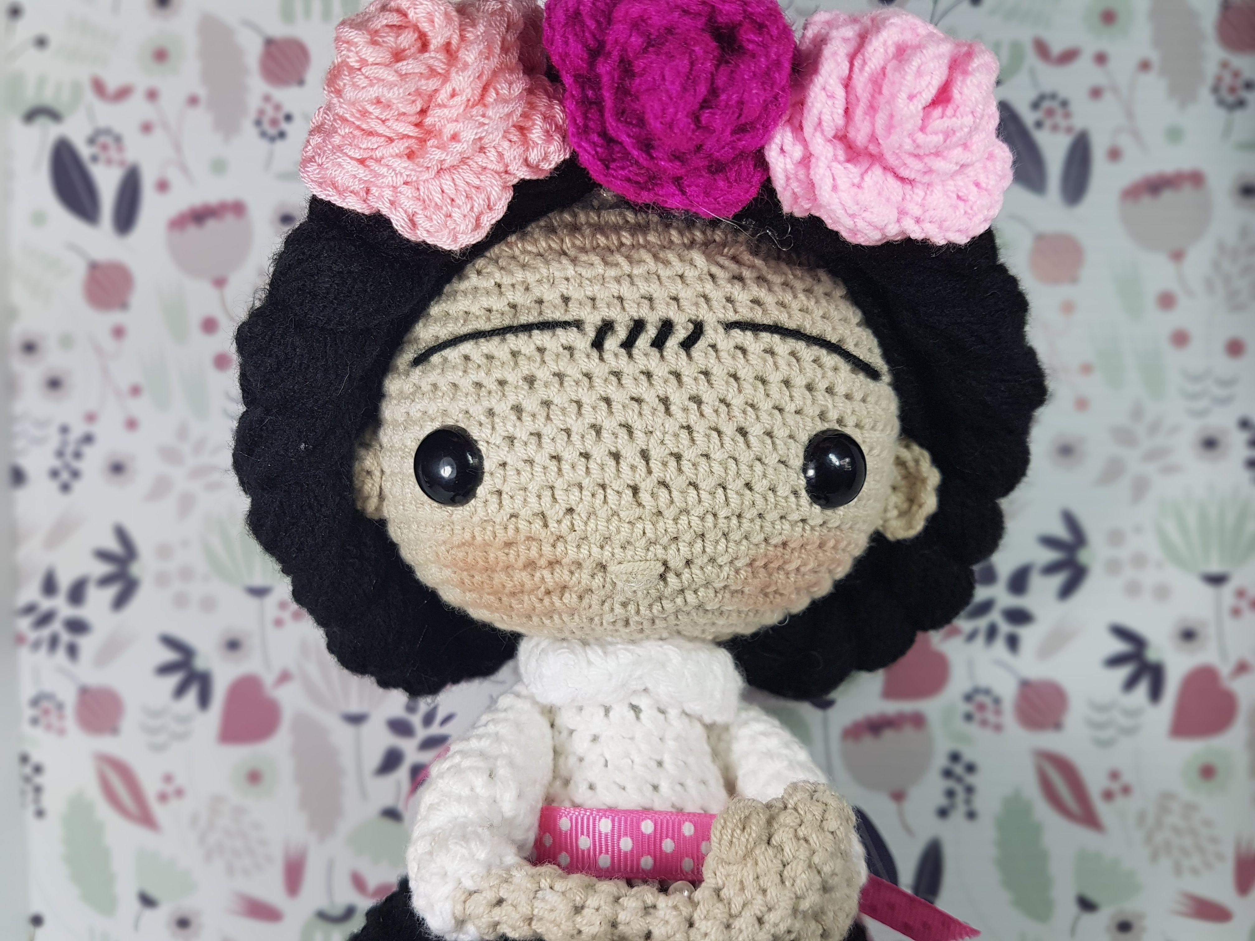 Amigurumis Frida Kahlo : Muñeca frida kahlo amigurumi crochetos