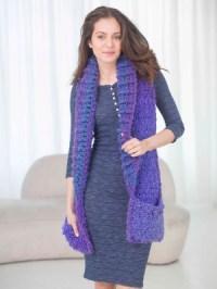 Crochet Patterns Galore - Pocket Shawl