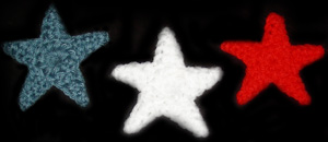 small crocheted stars