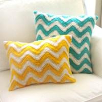 Crochet Pattern: Chevron Pillow Covers