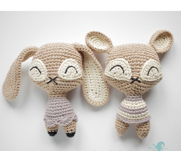 crochet bear and bunny