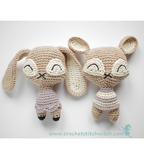 crochet pattern for a bear and bunny