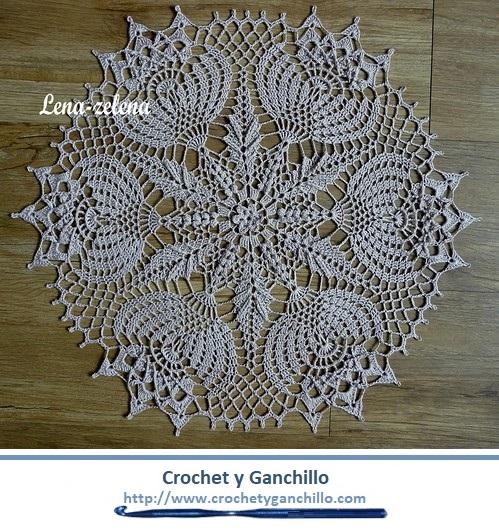 Caminos de mesa a crochet fáciles