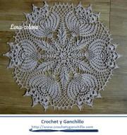 Caminos de mesa a crochet fáciles. Lujoso camino de mesa en hilo