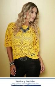 Blusas de crochet para verano. Extraordinaria, fresca, sencilla y elegante