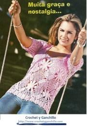 Blusas tejidas a crochet hermosas. Blusa con lindo grany. Patrón completo