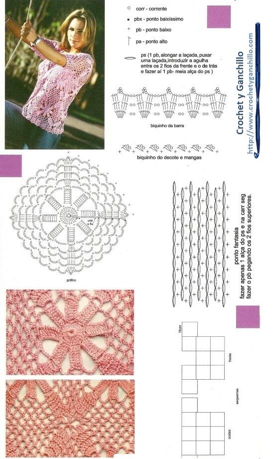 Blusas tejidas a crochet hermosas1