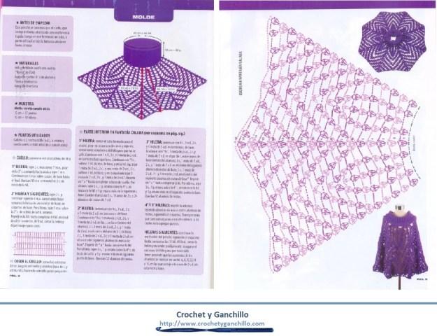Poncho a crochet patrones1