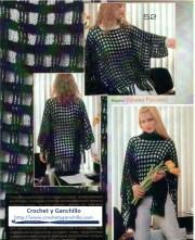 Ponchos tejidos a crochet. ♥ Un poncho muy fácil de tejer