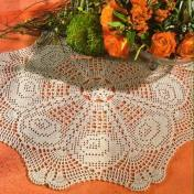 Tapete crochet redondo