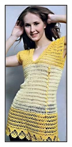 Blusa crochet calada juvenil con patrón