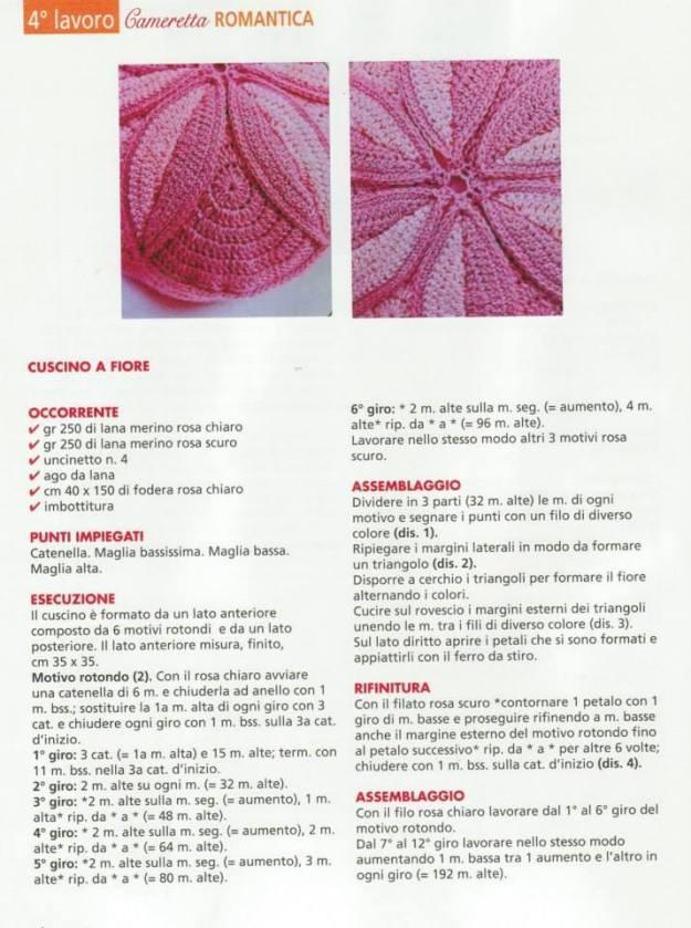 Esquemas gratis cojines en ganchillo - Crochet y Ganchillo