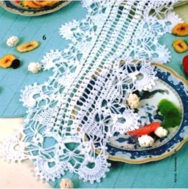 Camino de mesa crochet elegante