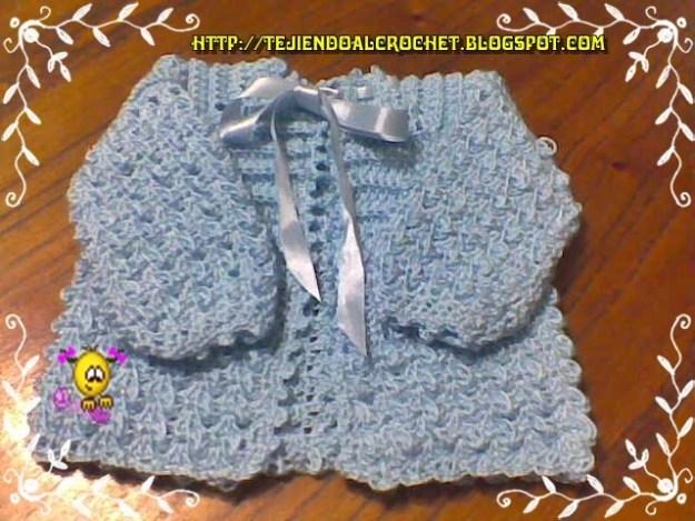 Abrigos tejidos para bebe