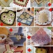 Adornos de cocina tejidos a crochet