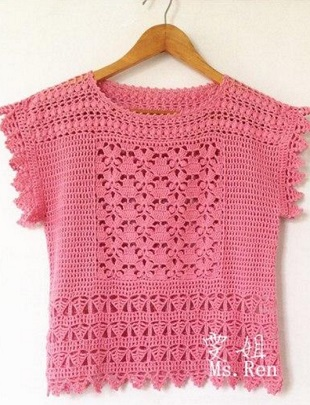 Blusas De Crochet Modernas Crochet Y Ganchillo
