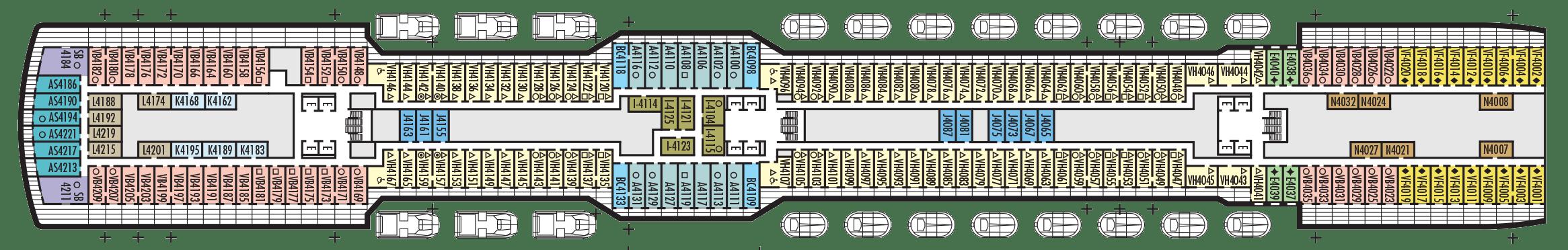 Koningsdam Deck Plan  Holland America Line